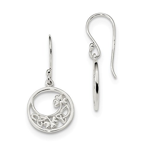 925 Sterling Silver Circle Clover Irish Claddagh Celtic Knot Drop Dangle Chandelier Earrings Flower Gardening Fine Jewelry For Women Gifts For Her