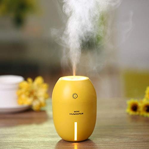 PRWJH Electric Humidifier, USB Lemon Aroma Diffuser, Aromatherapy for Car Essential Oil Diffuse, Portable Mini Humidifier for Home