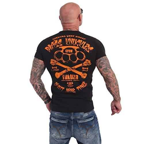 Yakuza Original Herren Brass Knuckles Crew T-Shirt Schwarz Gr.L