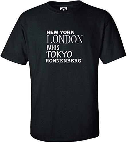 JOllify RONNENBERG Kinder Junge Mädchen T-Shirt – Design: New York, London, Paris, Tokyo - Größe: 128-7-8 Jahre