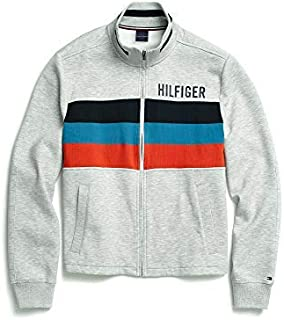 Tommy Hilfiger Men's Seated Fit Sweatshirt with Velcro Brand Closure