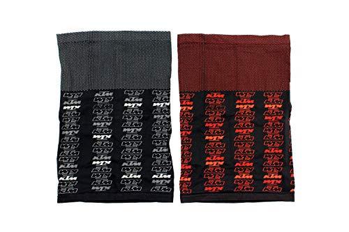KTM Multifunktionstuch Halstuch Schlauchschal Loop leicht und atmungsaktiv, Farbe:Schwarz/Orange