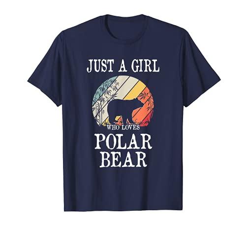 Solo una chica que ama al oso polar Camiseta