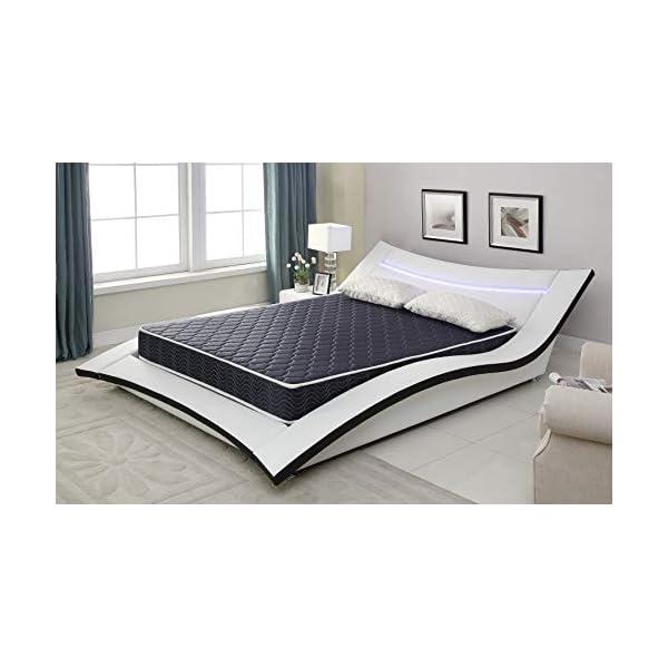 6″ Foam Mattress Covered in a Stylish Navy Blue Waterproof Fabric