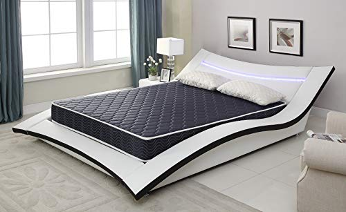 AC Pacific 6' Foam Mattress Covered in a Stylish Navy Blue Waterproof Fabric, Twin, Navy Blue