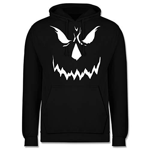 Shirtracer Halloween - Scary Smile Halloween Kostüm - M - Schwarz - Gesicht - JH001 - Herren Hoodie und Kapuzenpullover für Männer