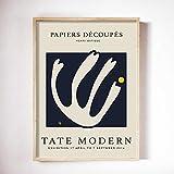 UHYGT Carteles e Impresiones de Matisse Fauvismo Cuadros de Arte de Pared Resumen Negro Hoja Blanca Pintura de Lienzo Minimalista Decoración para Sala de Estar 50x70cm X1 Sin Marco