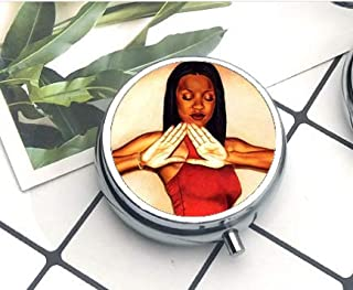 Compact 3 Compartment Medicine Case, Pill Box for Pocket or Purse Pill Box Decorative Pill Case with Gift Box Sorority Fraternity Organization Delta Sigma Theta Symbol 2 The Pill Box/Pill case