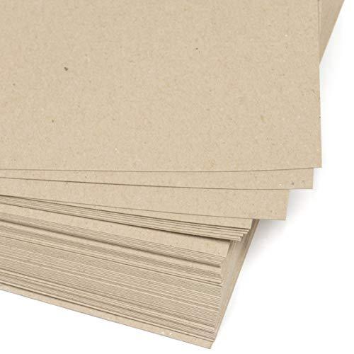 25 hojas DIN A3 Papel Grueso 220 g/m² Cartón reciclado grande, Cartulina kraft claro, Para Imprimir, Manualidades, Encuadernar, marcos de fotos.