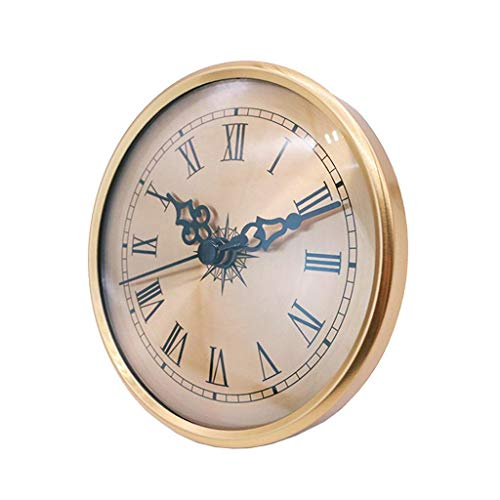 F Fityle Inserto DE Reloj DE Cuarzo DE 4.25'(108 Mm) Ajuste De Oro Número Romano Se Ajusta 3.39' Agujero