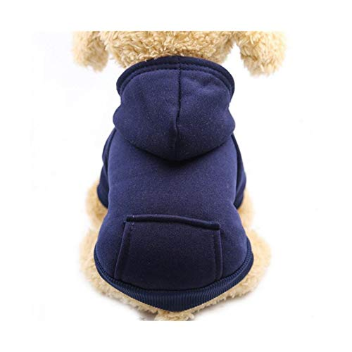 HYYYH Small dog Pure color hooded sweatshirt Autumn and winter pet sweater apply to Halloween/Christmas/Daily Costume (Color : F, Size : X-Small)