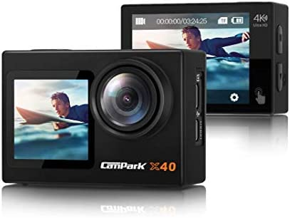 2021 Newest Campark X40 Vlogging Camera 4K 20MP Action Camera Dual Screen EIS Touchscreen Remote product image