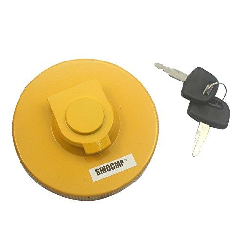 SINOCMP Diesel Bouchon Réservoir Carburant avec 2 clés pour Kato Excavatrice,3 mois de garantie