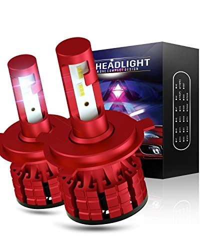 Wayrank H4 LED 10800LM Lampadine Auto 60W 12V 6000K bianca, 2 pezzi