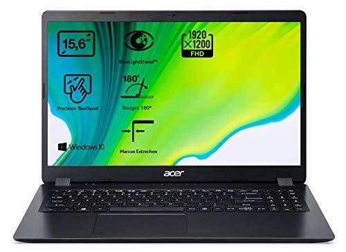 Acer Aspire 3 - Ordenador portátil de 15.6' FullHD (Intel Core i3-7020U, 8GB RAM, 256GB SSD, UMA, Windows 10 Home) - Teclado Qwerty Español