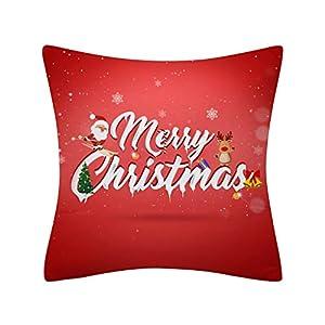 LILIHOT Weihnachten Kissenbezug Glitter Polyester Sofa Dekokissen Cover Home Decor Christmas Soft Dekorative Quadrat Wurf Kissenbezüge Set Kissen Fall Weihnachtsdekoration für Sofa Schlafzimmer