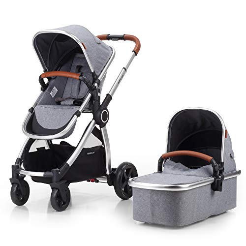 Mompush 2020 Full-Size Standard Stroller, One-Step Fold, Full...
