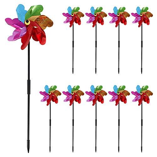 78Henstridge 10pcs Windmills for Garden, DIY Pinwheel Decoration High...