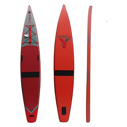 Gfdsase Blow up Paddleboard Inflables Stand Up Paddle Board for Los Adultos Jóvenes Apoyos 150kg, Antideslizante De La Cubierta Conveniente Almacenamiento (Color : Red, Size : 381x66x15cm)