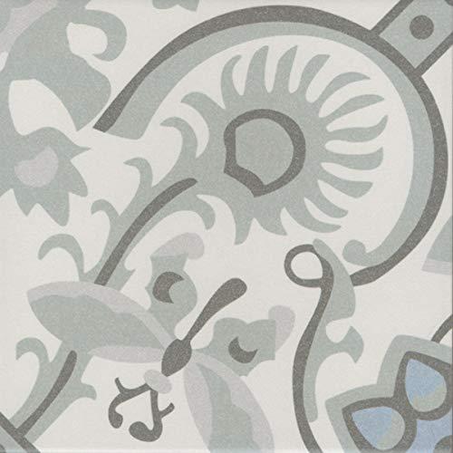 Casa Moro Orientalische Fliesen Ranja 20 x 20 cm 1 qm aus glasiertem Feinsteinzeug in Zementoptik   Bodenfliesen & Wandfliesen als Wand-Dekoration für schöne Küche Flur & Badezimmer   FL7022