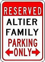金属サインアルティア家族駐車場ノベルティスズストリートサイン