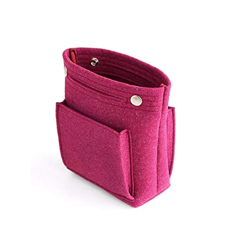 Filz Handtasche Tasche Organizer, Handtaschen-Organisator, Geldbeutel-Einsatz, Make-up Beutel Multi-Pocket-kosmetische Aufbewahrungstasche in Beutel-Liner-Beutel für Frauen,Rot
