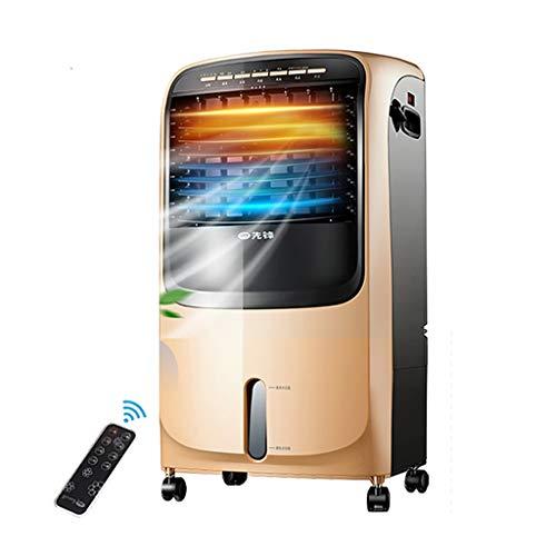 Aire Acondicionado evaporativo pequeño, Ventilador del Enfriador de Aire y Calentador de calefacción, humidificador, purificador de Aire 4 en 1, Enfriador de Agua de 3 velocidades y 7 Modos