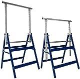 scaffolding 2 l'impalcatura le altezze pieghevoli possono essere utilizzate per il trasporto per uso esterno interno,blue
