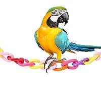 Cクリップフック鳥のおもちゃの部品DIYチェーンリンク、100個のプラスチック鳥のチェーンリンク、ラット小型ペット用のカラフルな耐久性