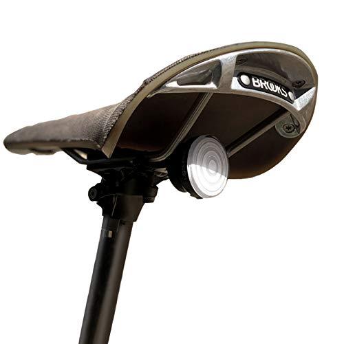 SHANREN Raz - Luz trasera para bicicleta, luz trasera de freno de seguridad, luz trasera LED recargable ultrabrillante, compatible con tija de asiento, sillín y casco (Raz – sillín)