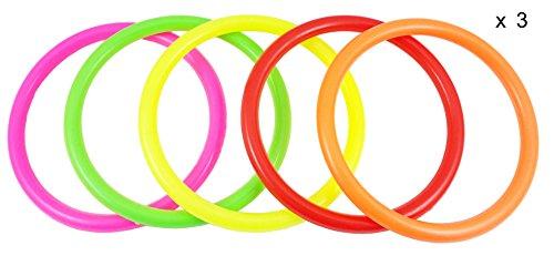 Kunststoff-Ringe für Geschwindigkeits- und Beweglichkeitstraining, mehrfarbig, 15 Stück