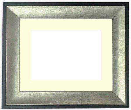 写真用額縁 GR-1903/シルバー ハガキ(152×102mm) ガラス マット付 マット色:黒