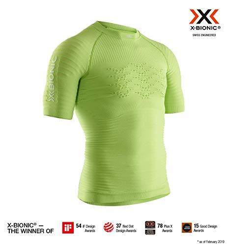 X-Bionic 4.0 Run Chemise Homme, Effektor Green/Arctic White, FR : 2XL (Taille Fabricant : XXL)