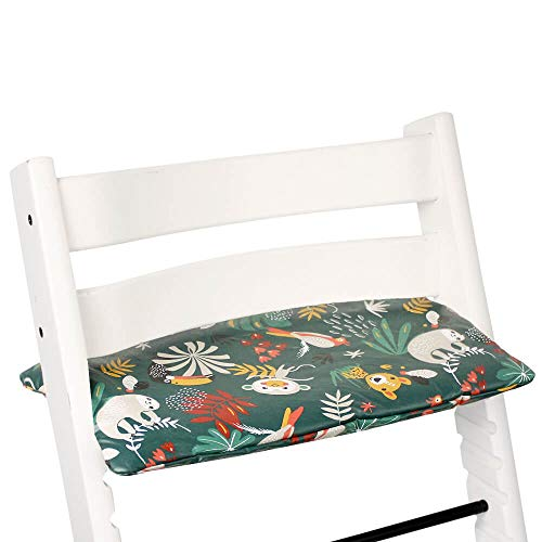 Cushion Tailor Made for Stokke Tripp Trapp High Chair (Old and New Model)-Cushion Set 1 Piece- Cushion in Cotton Oeko-TEX Standard 100- Coated Plastified Cushion Easy to Clean with Wipes Animals