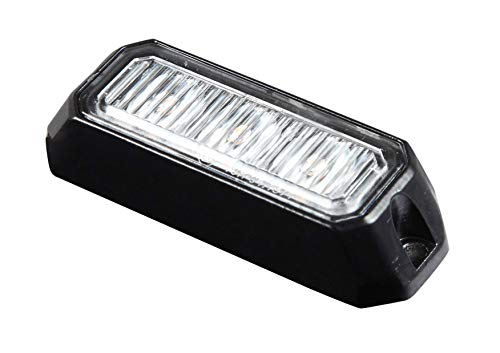 BEEPER BPRO-173-4O Splitterlicht rechteckig, ORANGE 4 LEDS