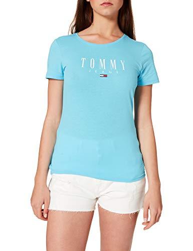 Tommy Jeans TJW Essential Skinny Logo tee Camiseta, Azul Mar, S para Mujer