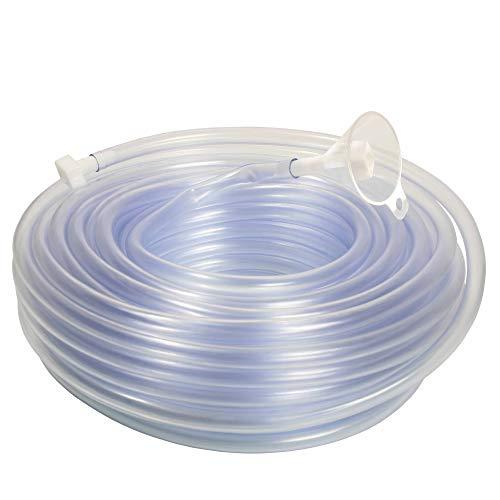 as - Schwabe Schlauch-Wasserwaage 20 m – Schlauch-Waage aus PVC, glasklar 8 x 1,5 mm – Schlauch-Nivelliergerät inklusive Trichter & zwei Stöpseln – Ideal zum Ausfinden der gleichen Höhe I 12711