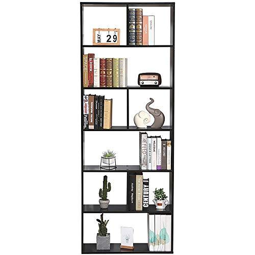 Libreria Scaffale Scura Wenge Libreria Cubi Moduli Ufficio Moderna Contemporanea Bifacciale Divisorio. Libreria Giorno 70X23.5X190 Autoportante Mensole Scaffali Muro Design Ingresso