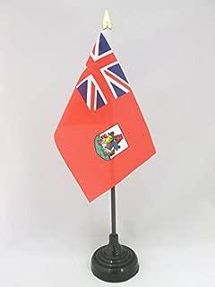 AZ FLAG Bermuda Table Flag 4'' x 6'' - Bermudian Desk Flag 15 x 10 cm - Golden Spear top