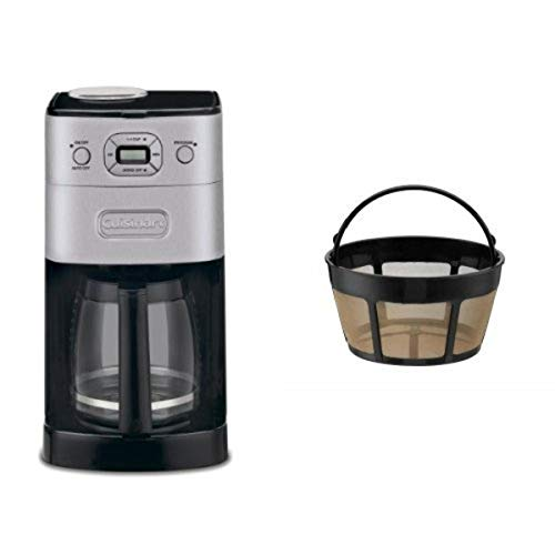 Cuisinart DGB-625BC Grind-and-Brew 12-Cup Automatic Coffeemaker and Filter Bundle