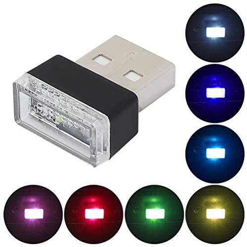 BSTQC 7 unids coche USB iluminación ambiente interior iluminación LED coche interior decoración noche