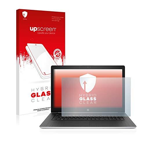 upscreen Hybrid Glass Panzerglas Schutzfolie kompatibel mit HP ProBook 470 G5 9H Panzerglas-Folie