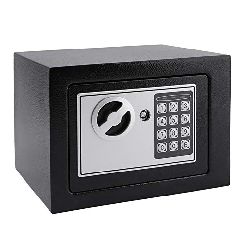 2020 Solid Steel Elektronischer Safe Mit Digitaltastensperre 4.6L Mini Abschließbare Schmuck-Speicher-Fall Safe Geldgeldaufbewahrungsbehälter