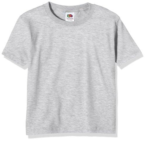Fruit of the Loom Ss124b,T-Shirt Garçon,Gris (Heather Grey),12-13 ans
