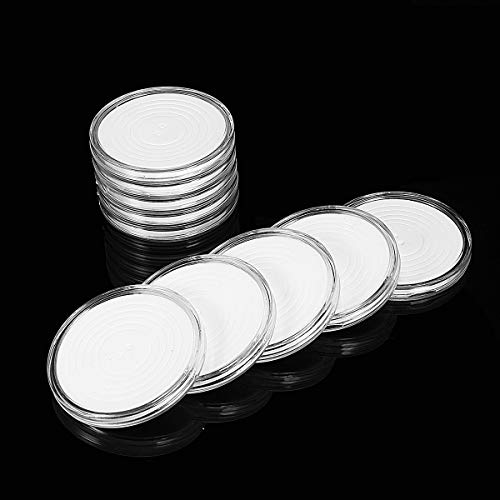 MJJEsports kleine ronde doos een duidelijke tien herdenkingsmunt munt collectie doos munthouder