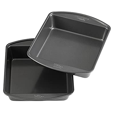 Wilton Perfect Results Premium Non-Stick 8-Inch Square Cake Pans, Set of 2