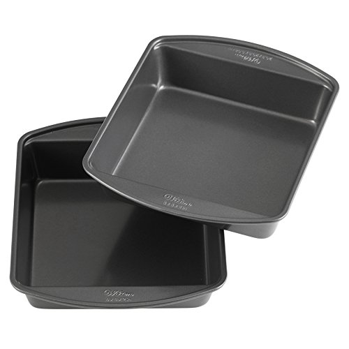 8-Inch Square Cake Pans, Set of 2