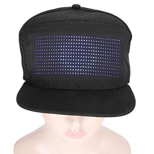 01 Gorra de Fiesta, Sombrero con Letrero LED, Carga USB...
