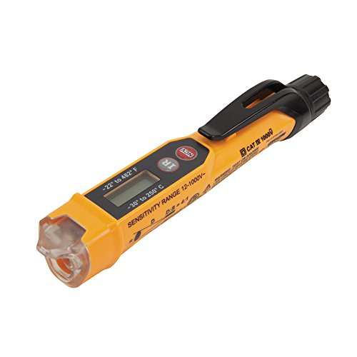 Klein Tools NCVT-4IR Voltage Tester, Non-Contact Volt Tester Pen with Infrared Thermometer for AC Voltage, IR Temperature, Great HVAC Tester