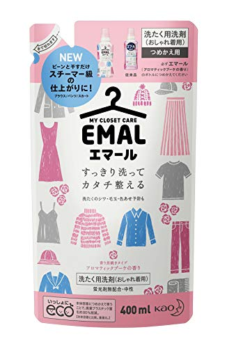 エマール(EMAL)洗濯洗剤 液体 アロマティックブーケの香り 詰め替え400ml